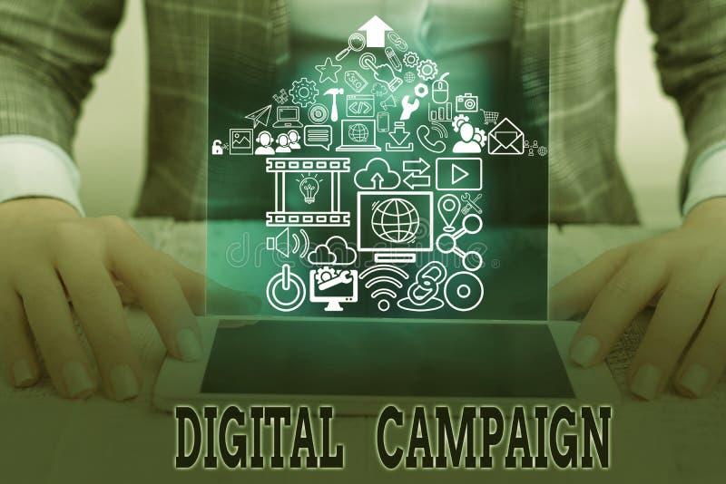 Konzeptuelle Handschrift für die Digitale Kampagne Anstrengung eines Unternehmens zur Ansteuerung von Unternehmenstexten lizenzfreies stockfoto