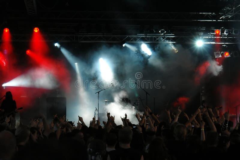 Konzert-Masse stockbilder