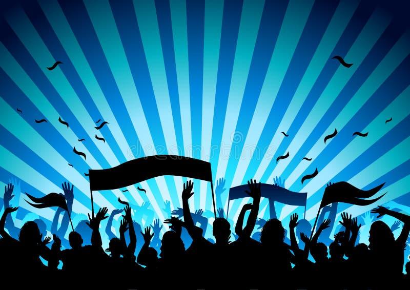 Konzert-Publikum lizenzfreie abbildung