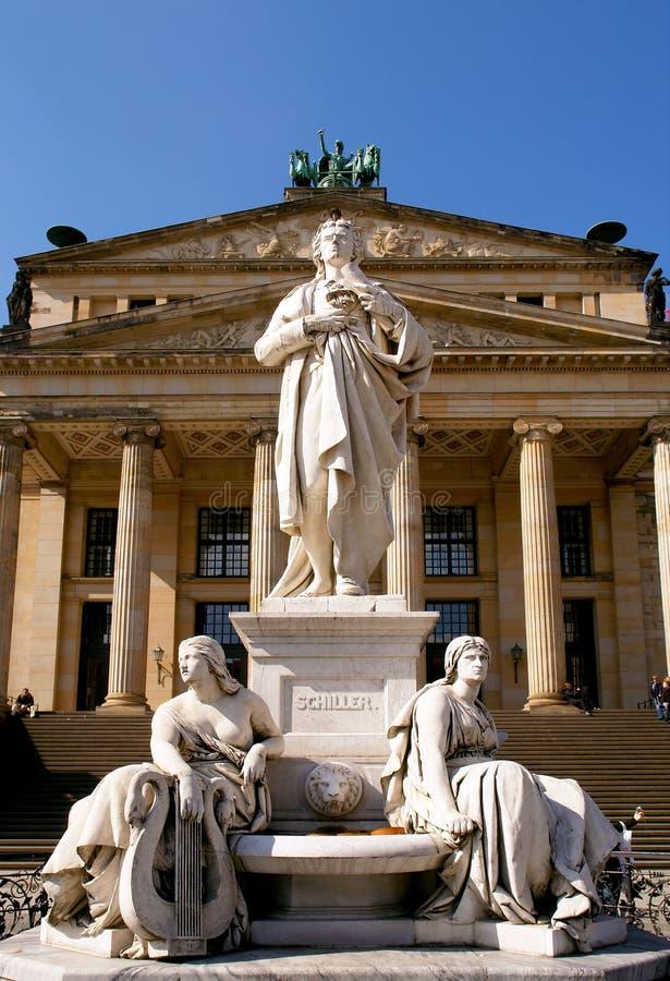 Konzerthaus hall statue, Gendarmenmarkt square. Berlin stock photos