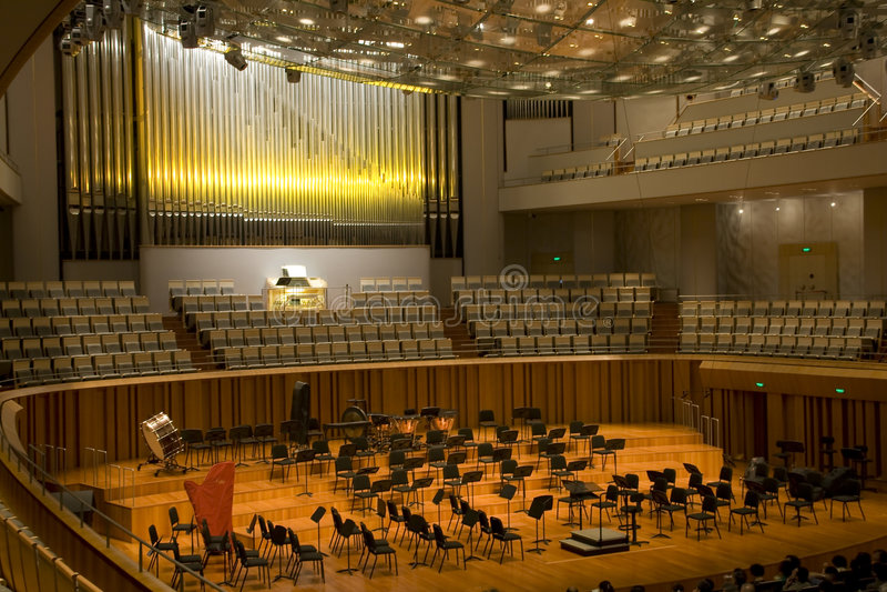 Konzertsaal stockbilder