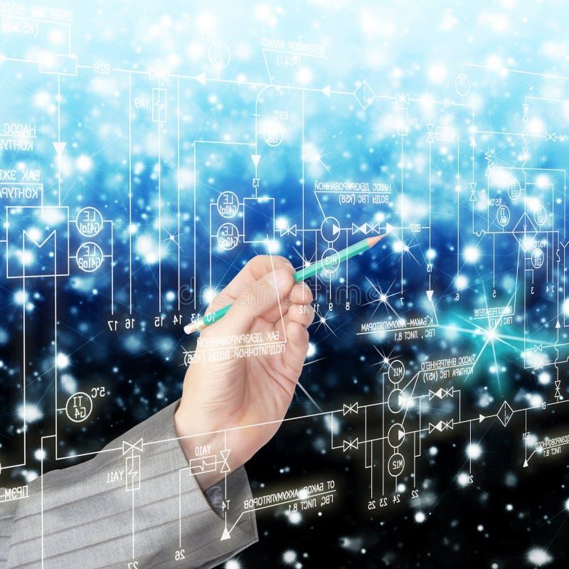 Konzipieren der erfinderischen Systeme von telecommunicati lizenzfreie stockbilder