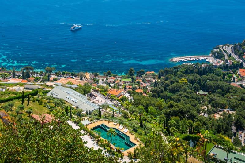 Kooi D ` Azur beachfront royalty-vrije stock afbeeldingen