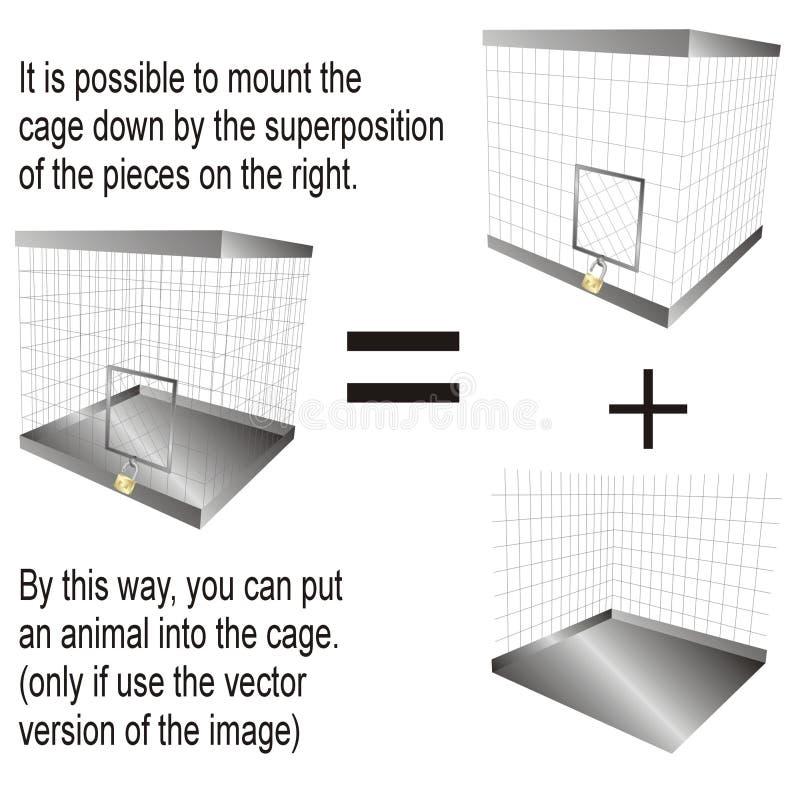 Kooi met hangslot vector illustratie