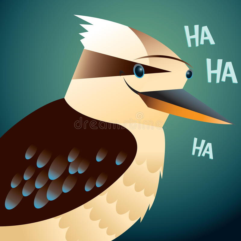 Kookaburra portrait vector illustration