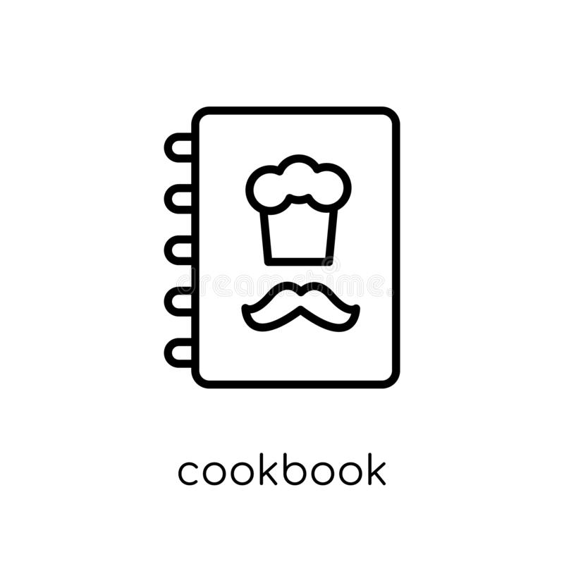 Kookboekpictogram van Restaurantinzameling royalty-vrije illustratie