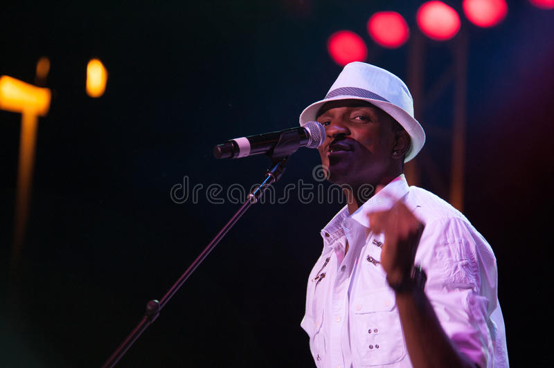 Kool and the Gang. CITRUS HEIGHTS, CA – September 8: Kool and the Gang performs at Sunrise Marketplace in Citrus Heights, California on September 8th stock photo