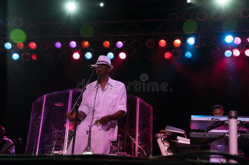 Kool and the Gang. CITRUS HEIGHTS, CA – September 8: Kool and the Gang performs at Sunrise Marketplace in Citrus Heights, California on September 8th royalty free stock images