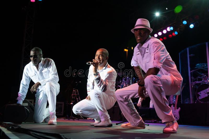 Kool and the Gang. CITRUS HEIGHTS, CA – September 8: Kool and the Gang performs at Sunrise Marketplace in Citrus Heights, California on September 8th royalty free stock image