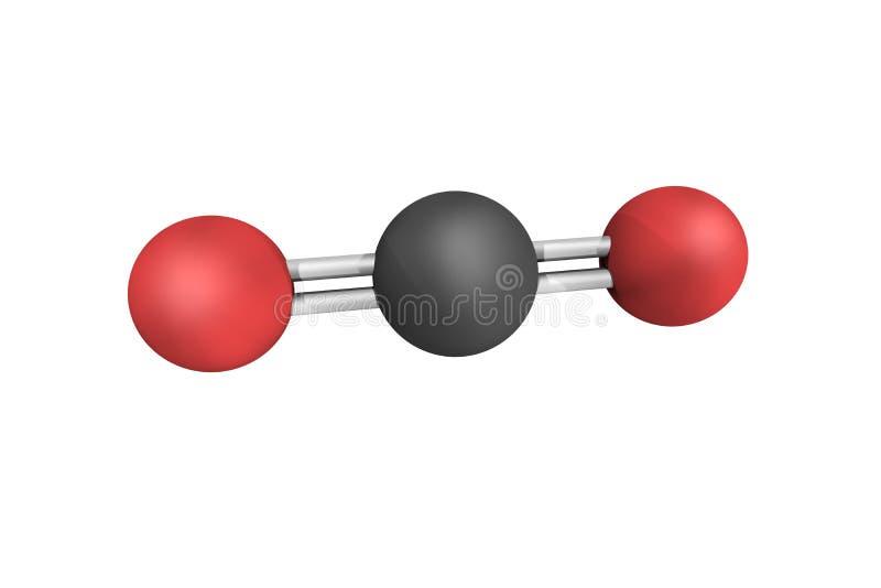Kooldioxide, een kleurloos en geurloos gas essentieel voor het leven op Ea stock afbeelding
