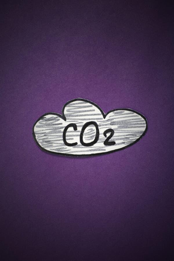 Kooldioxidewolk stock afbeeldingen