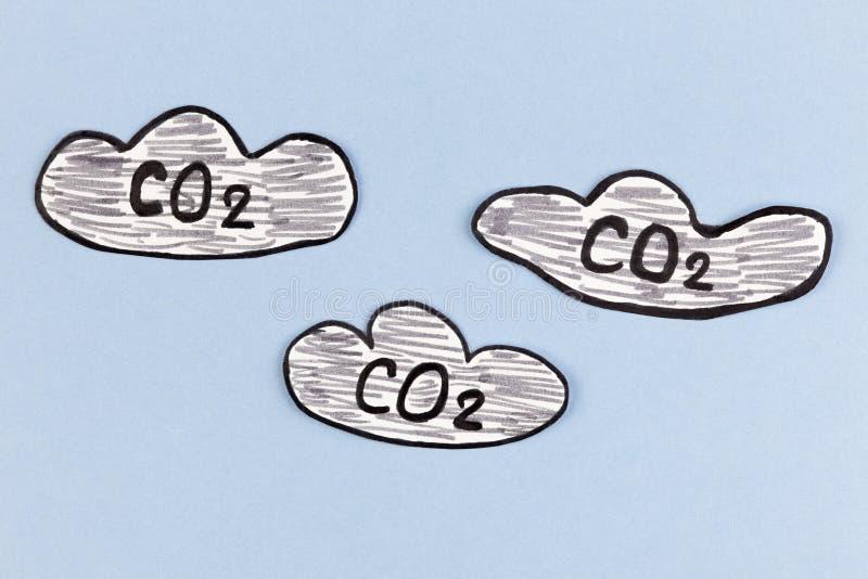 Kooldioxidewolken stock foto's