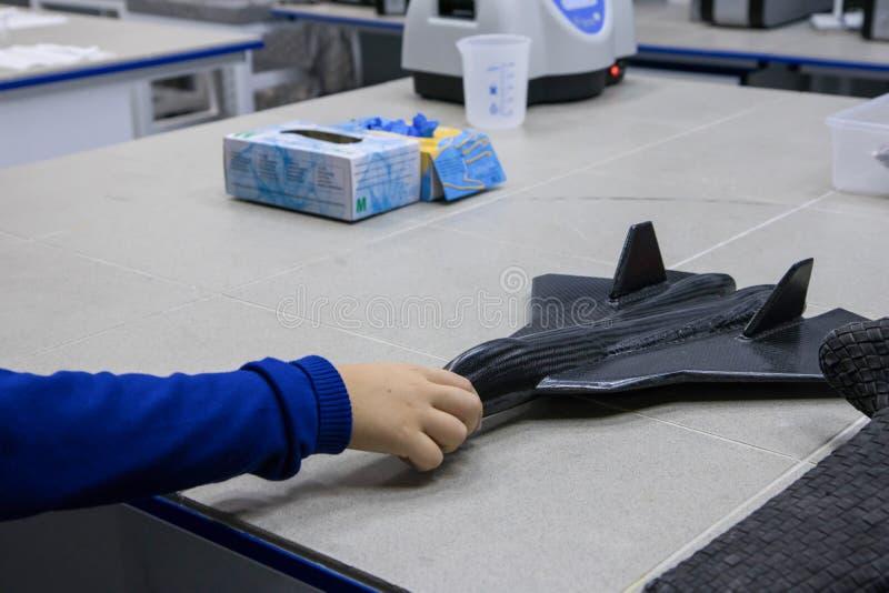 Koolstofmodel van vliegtuig royalty-vrije stock fotografie