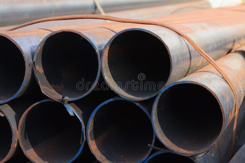 Koolstofstaalpijp stock foto