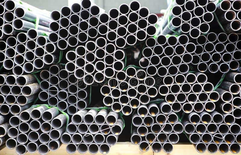 Koolstofstaalpijpen royalty-vrije stock afbeeldingen
