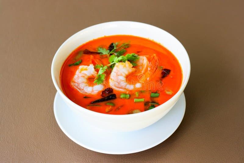 Koong picante de Tom de la sopa de la gamba de río yum imagen de archivo libre de regalías