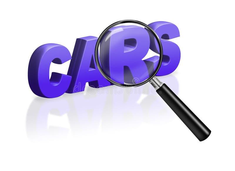 Koop de knoop online verkoop van de autoreclame royalty-vrije illustratie