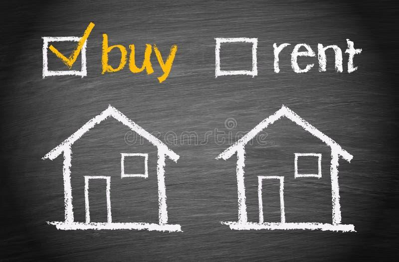 Koop een huis stock fotografie