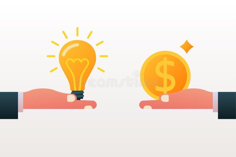 Koop en verkoop idee royalty-vrije illustratie