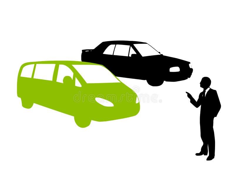 Koop groene ecologic auto royalty-vrije illustratie