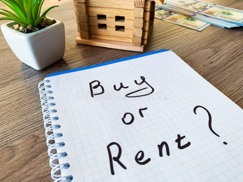 Koop of huur huis Concept 6 van onroerende goederen royalty-vrije stock afbeelding