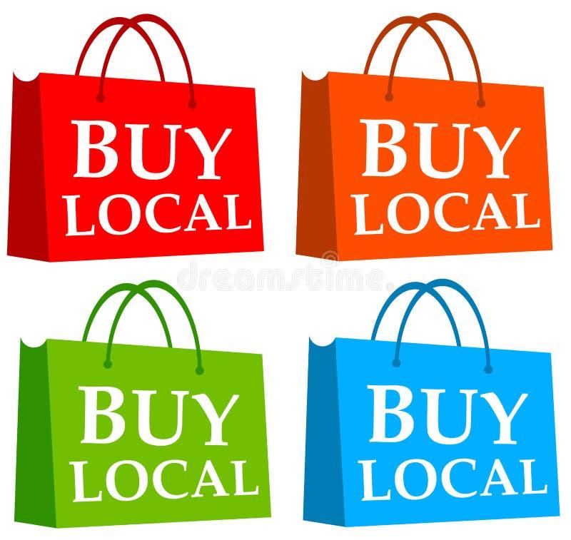 Koop lokaal stock illustratie
