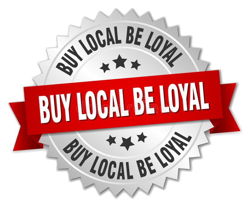 koop lokaal loyaal is stock illustratie