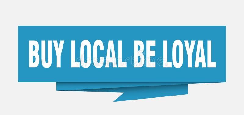koop lokaal loyaal is royalty-vrije illustratie
