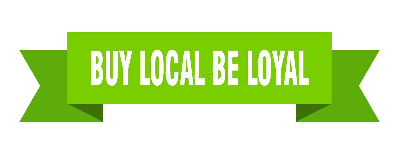 koop lokaal is loyaal lint royalty-vrije illustratie