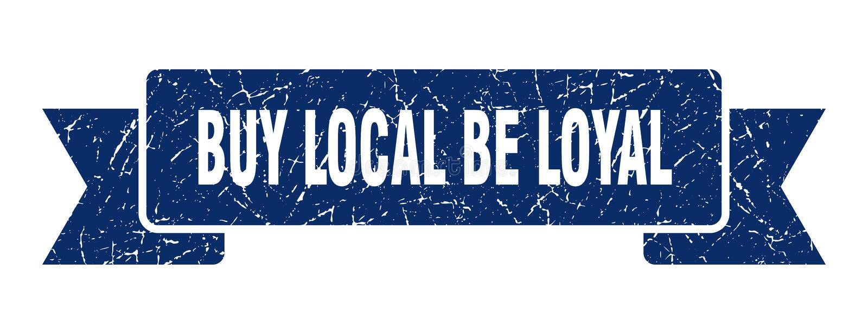 koop lokaal is loyaal lint stock illustratie