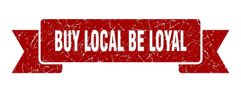 koop lokaal is loyaal lint vector illustratie