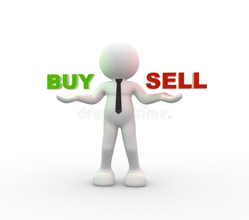 Koop of verkoop vector illustratie
