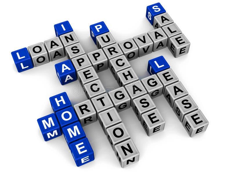 Koop-verkoop huis en hypotheek vector illustratie