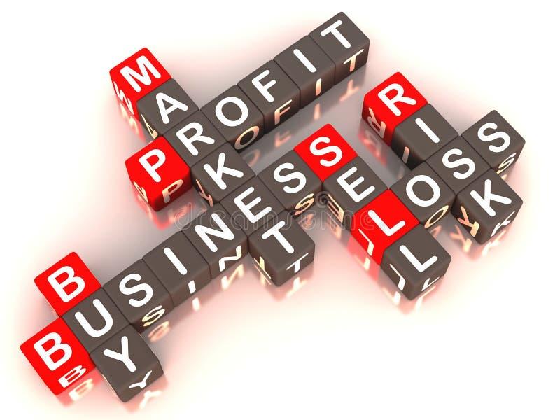Koop-verkoop markt royalty-vrije illustratie