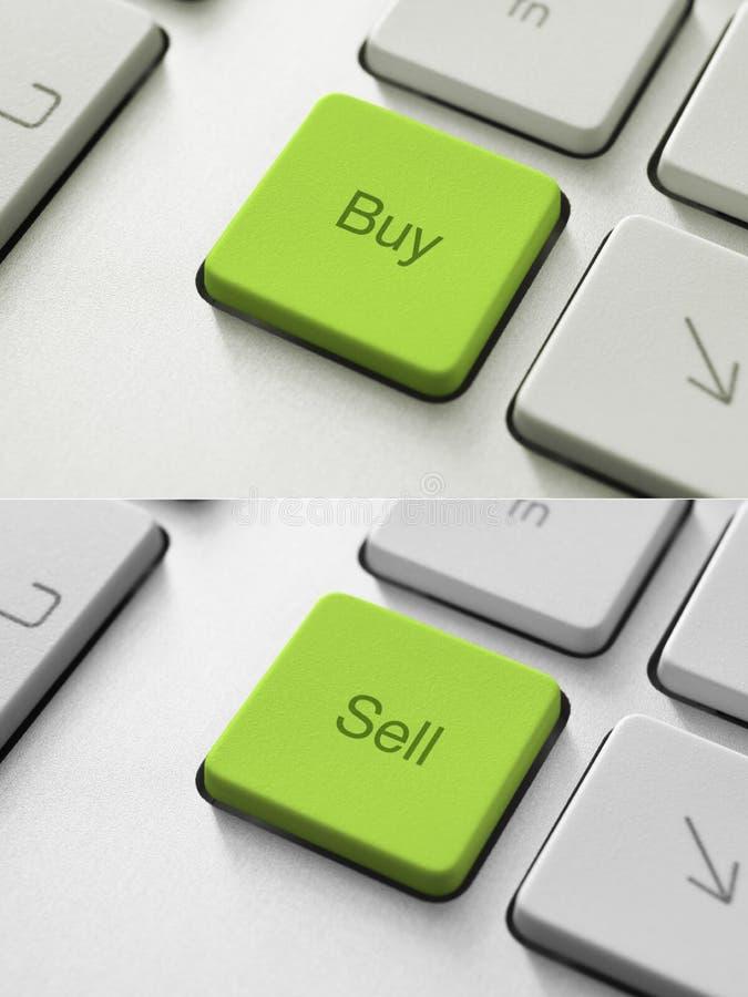 Koop-verkoop Sleutel vector illustratie