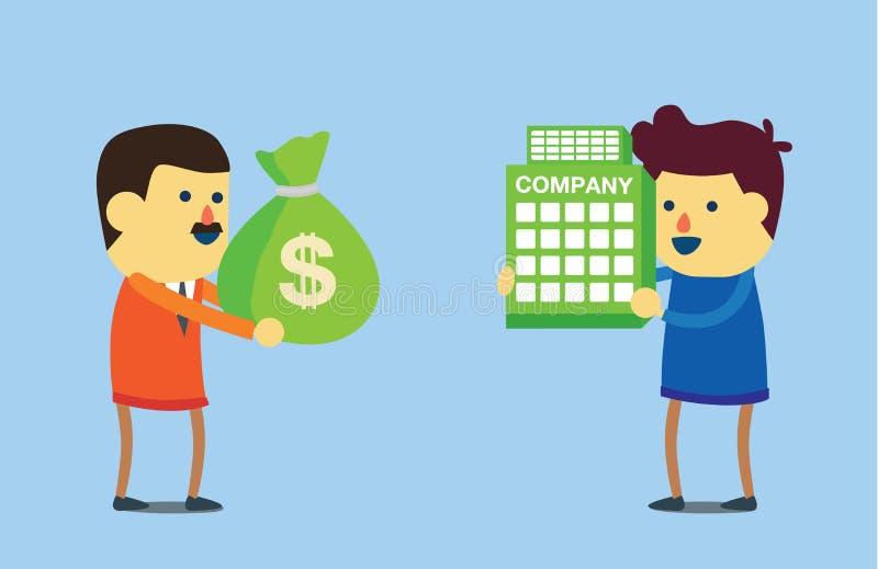 Koop zaken met geld stock illustratie