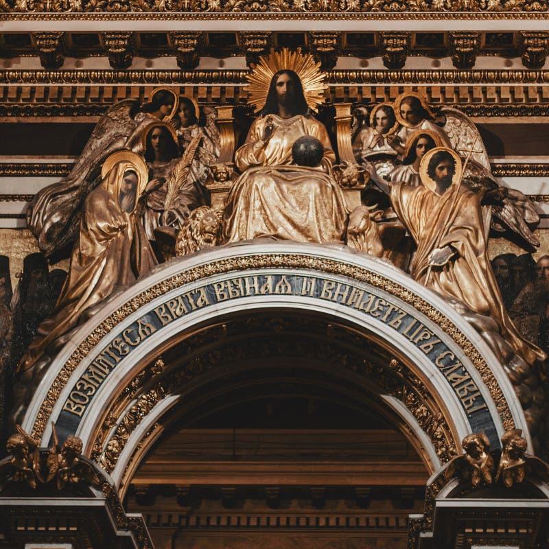 Koor van St Isaac Cathedral royalty-vrije stock foto