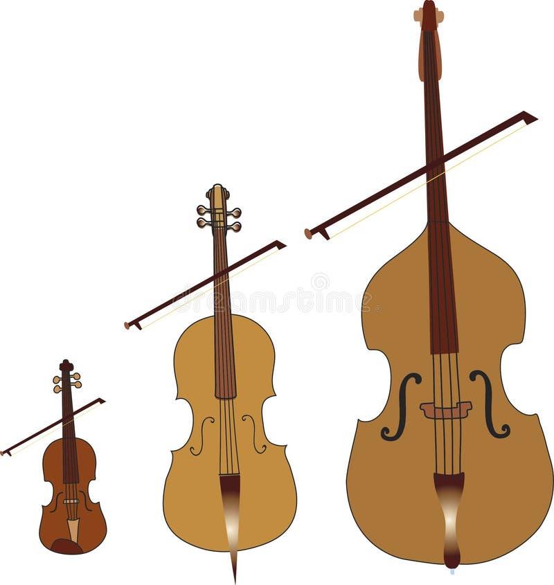 Koord muzikale instrumenten royalty-vrije illustratie