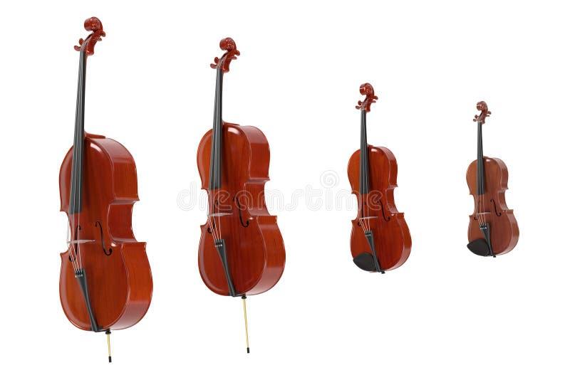 Koord muzikale instrumenten vector illustratie