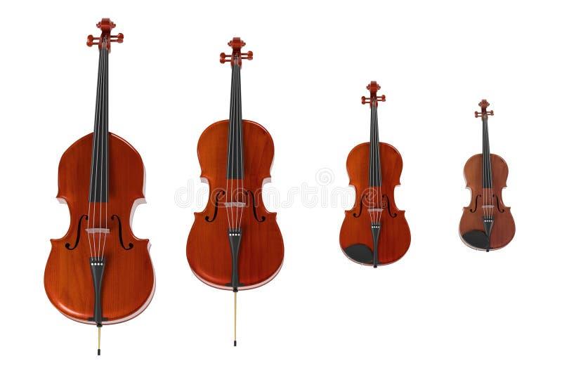 Koord muzikale instrumenten stock illustratie