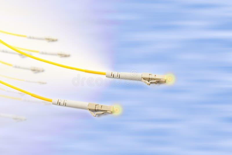 Koord van het vezel het optische flard met verlichtingseffect royalty-vrije stock afbeelding