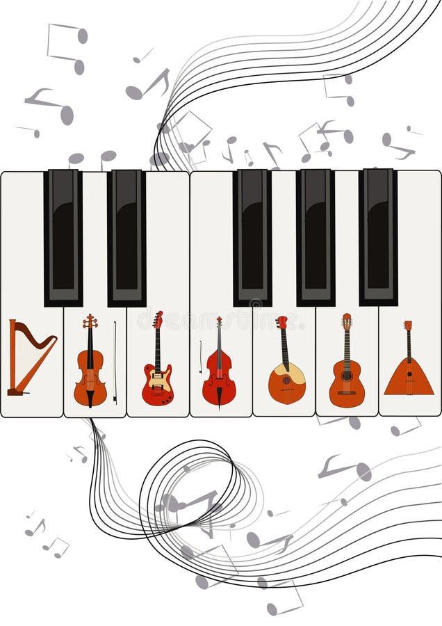 Koorden op sleutels stock illustratie