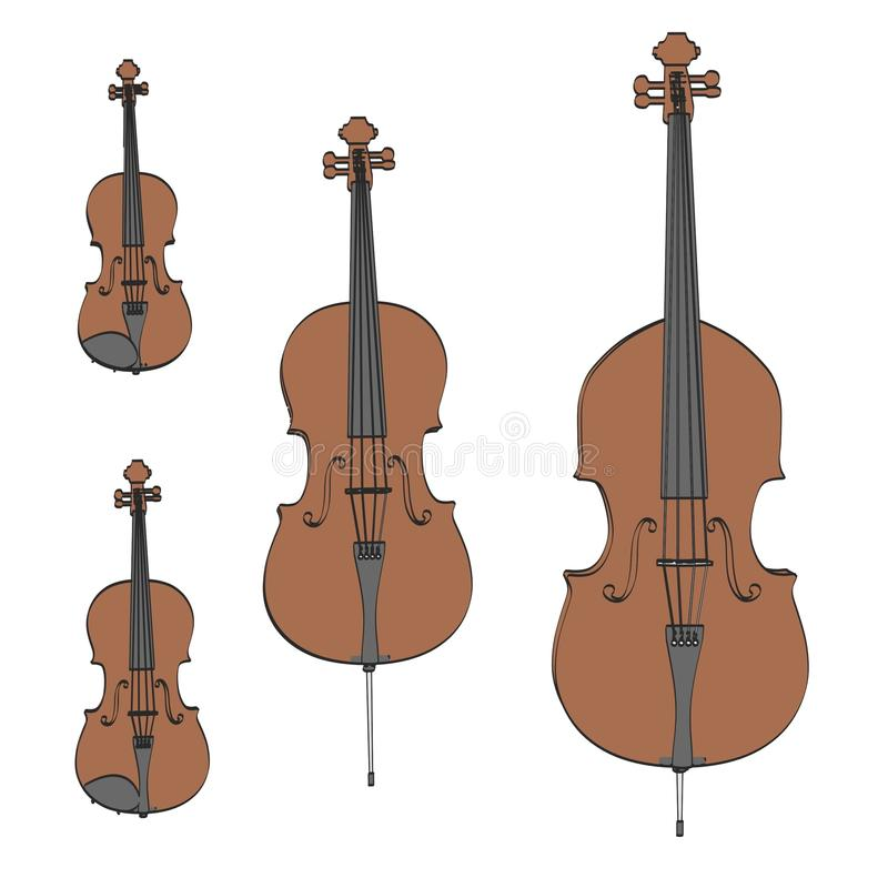 Koordinstrumenten stock illustratie