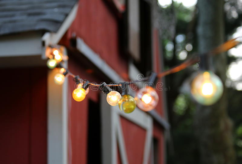 Koordlichten op een Schuur stock foto's