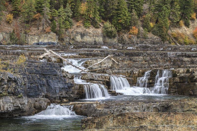 Kootenai fällt in Montana lizenzfreies stockfoto