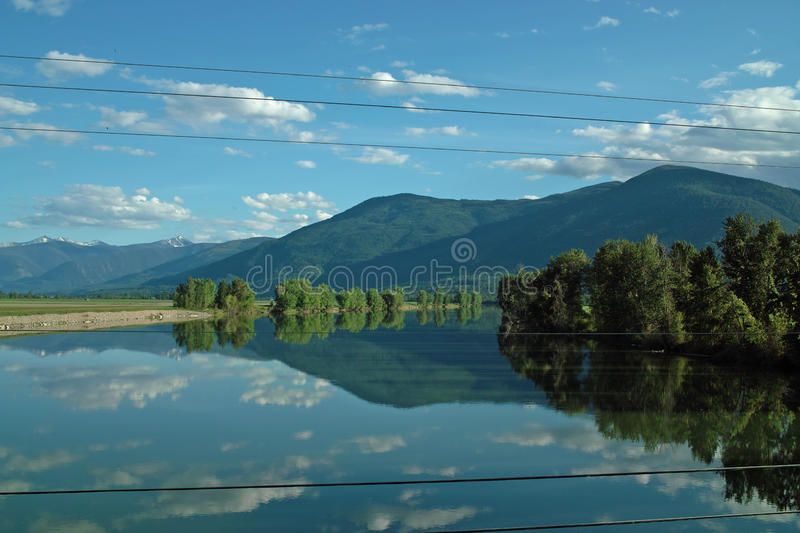 Kootenay River, B.C. Canada. stock photo