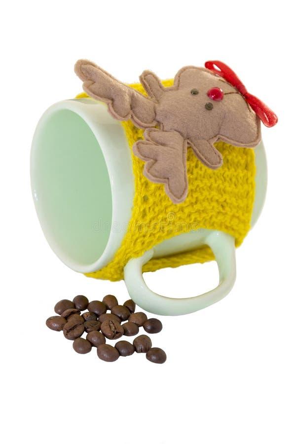 Kop koffie en herten royalty-vrije stock foto
