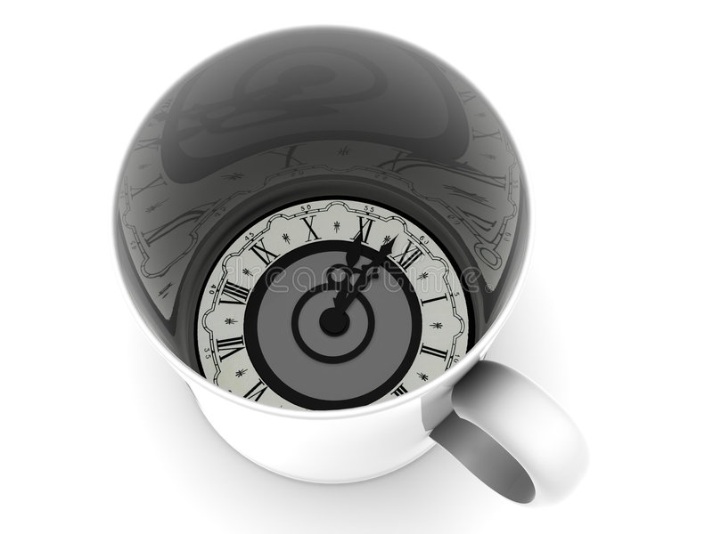 Kop met klok. Elf uur royalty-vrije illustratie
