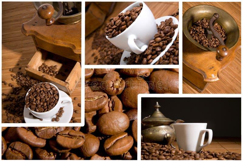 Kop met koffieboon stock afbeelding