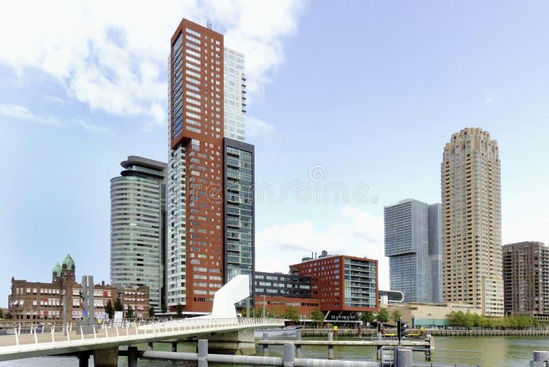 Kop skåpbil Zuid i Rotterdam royaltyfria foton
